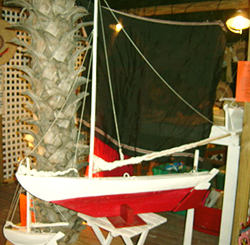 caribbean model boat sailing vessel